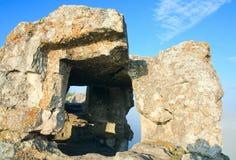 One of Mangup Kale caves (Crimea, Ukraine) Royalty Free Stock Image