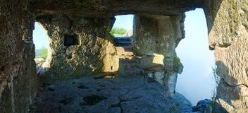 One of Mangup Kale caves (Crimea, Ukraine) Royalty Free Stock Photography