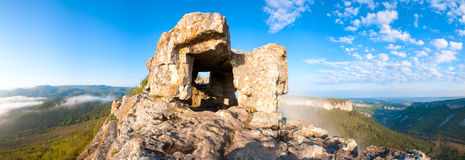 One of Mangup Kale caves (Crimea, Ukraine) Royalty Free Stock Images