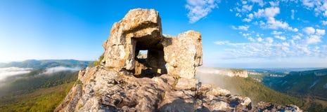 One of Mangup Kale caves (Crimea, Ukraine) Royalty Free Stock Images