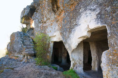 One of Mangup Kale caves (Crimea, Ukraine) Stock Image