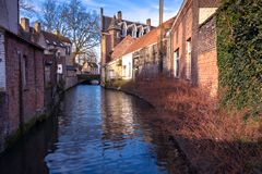 One of the many architectures in Bruges belgium, Captured during. Christmas in 2017 Royalty Free Stock Photos