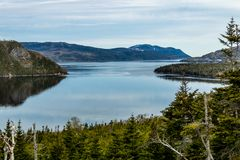 One of the many bays taken from the Roadside, Gros Morne National Park, Newfoundland, Canada royalty free stock photos