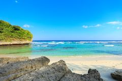 Beautiful Beach of Sumba Island stock images