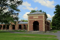 One of many beautiful structures on the property, Saratoga's Spa Park,Saratoga,New York,2015 Stock Image