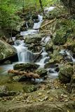 One of the Many Beautiful Waterfalls by the Crabtree Falls Trail royalty free stock photography