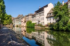 Canal in Strasbourge, France Stock Photos