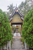 One of the many chapels of the temple in Luang Prabang Royalty Free Stock Photo