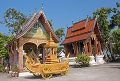 One of the many chapels of the temple in Luang Prabang Stock Photography
