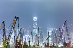 One of many construction sites in Hong Kong Stock Photography