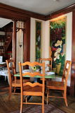 One of the many dining rooms inside famous Mouzon House Restaurant,Saratoga Springs,New York,2014 Royalty Free Stock Photos