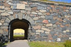Old fortification entrance and wall Royalty Free Stock Image