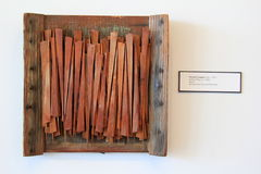 One of many examples from Bernard Langlais:wood,paper,canvas exhibit, Ogunquit Museum of American Art, Maine, 2016 Stock Images