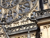 One of many gargoyles in Saint Vitus Cathedral in Prague Stock Photography