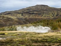 Small Geyser in Southwest Iceland Stock Images
