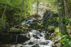 One of the Many Magical Waterfalls by the Crabtree Falls Trail royalty free stock images