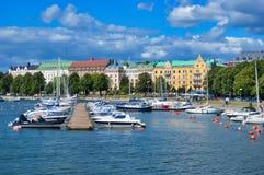 One of many marinas in Helsinki Stock Image