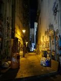 One of the many narrow alleys, so typical of Hong Kong stock images