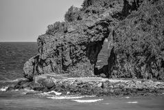 Rock Outcropping in Boracay royalty free stock photo