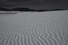 White Sands. One of the many sand dunes at White Sands National Monument, New Mexico Stock Image