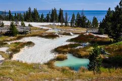 One of the many scenic landscapes of  Yellowstone National Park, Royalty Free Stock Images