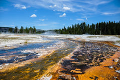 One of the many scenic landscapes of Yellowstone National Park, Stock Photo