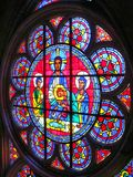 Religious Stain glass window: St John the Divine Cathedral. This is one of the many stain glass windows at St John the Divine Cathedral in NYC Royalty Free Stock Photos