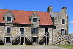 One of many stone buildings at historical Fort Ticonderoga,New York,2014 Stock Photos