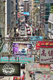 One of the many streets in Hong Kong China Royalty Free Stock Photo