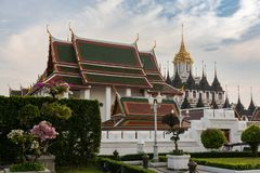 One of the many temples in Bangkok Stock Photos