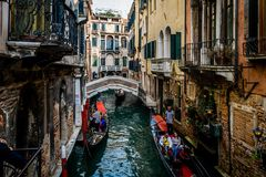 One of many Venice canals stock photo