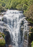 One of the many waterfalls on the trail Mildford Track royalty free stock images