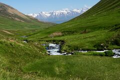 One of many wonderful valleys in the North Iceland further more in Eyjafjordur - Iceland.