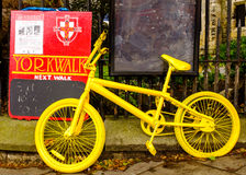 One of many yellow bikes in York for the 101st Tour De France Royalty Free Stock Photos