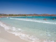 One of the marvelous and uncontaminated beaches of the island of Royalty Free Stock Photography