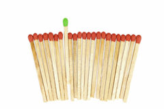 One matchstick standing out from other Royalty Free Stock Photo