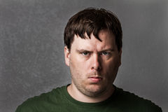 One mean looking guy about to cause problems Royalty Free Stock Image