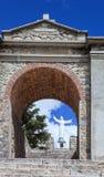 One memorial to the victims of the earthquake Huascaran, Peru Stock Photo