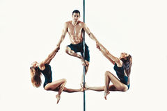 Pole dance team Royalty Free Stock Photos