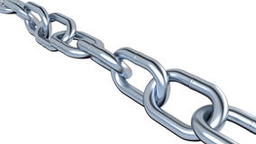 One Metallic Chain Royalty Free Stock Images