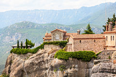 One of Meteora monasteries on the rocks. Stock Photography