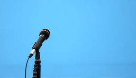 One microphones Stock Image