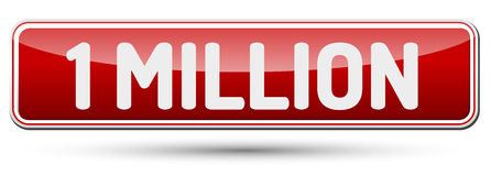 ONE MILLION - Abstract beautiful button with text. ONE MILLION - Abstract beautiful button with text royalty free illustration
