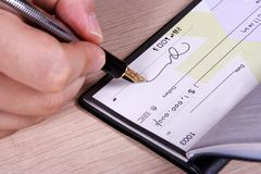 One Million Dollar Cheque Royalty Free Stock Photo