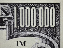 One million dollar note Stock Images