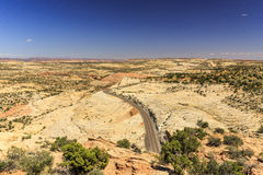 The one Million-Dollar road from Boulder to Escalante, USA. Before the Highway 12 route was built, travelling through this region was slow, hard work Royalty Free Stock Photos