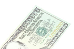 One million dollars banknote closeup Royalty Free Stock Photos