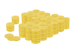 One Million Dollars in Gold Coins Stock Photography