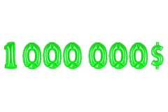 One million dollars, green color Stock Photos