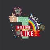 One Million Likes Celebration. One Million Likes Celebration Vector Illustration vector illustration